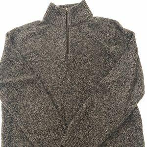 Men's jcrew gray heather wool sweater slim fit